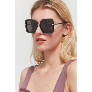Urban Outfitters Black Retro Square Sunglasses